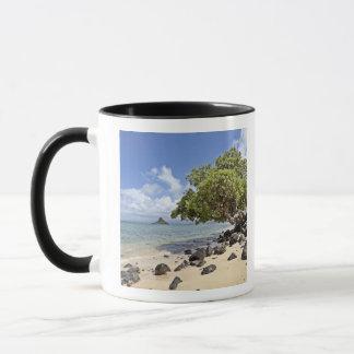 Mug Une vue regardant le long du rivage vers