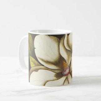 Mug Usine vintage de fleurs de magnolia avec des