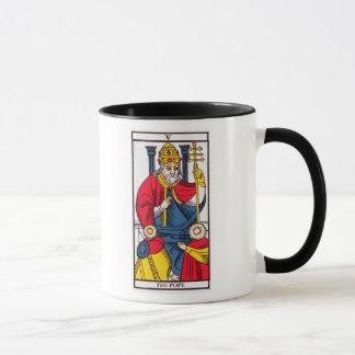 Mug V le pape, carte de tarot