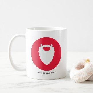 Mug Vacances modernes de barbe rouge et blanche de