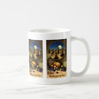 Mug Vacances vintages, un heureux jour de thanksgiving