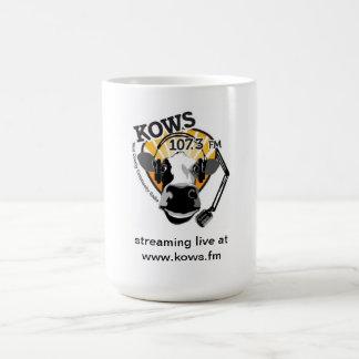 Mug vache avec le microphone, radio de KOWS