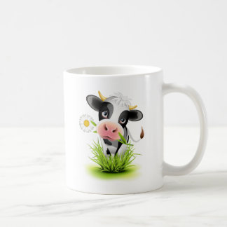 Mug Vache du Holstein dans l'herbe