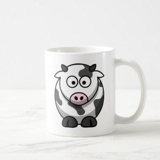 Mug Vache ronde mignonne à bande dessinée avec le nez