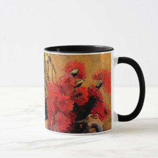 Mug Van Gogh - vase avec les oeillets rouges et blancs