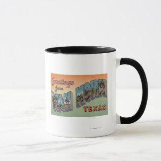 Mug Van Horn, le Texas - grandes scènes de lettre