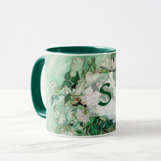 Mug Vase à Van Gogh avec le monogramme vintage d'art