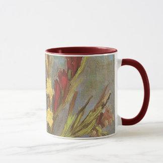 Mug Vase avec des Gladioli par Vincent van Gogh