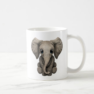 Mug Veau mignon d'éléphant de bébé s'asseyant