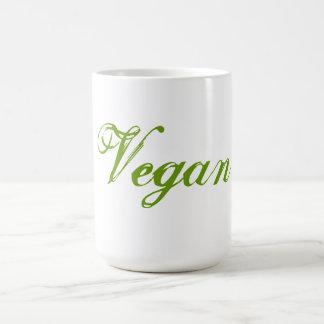 Mug Végétalien. Vert. Slogan. Coutume