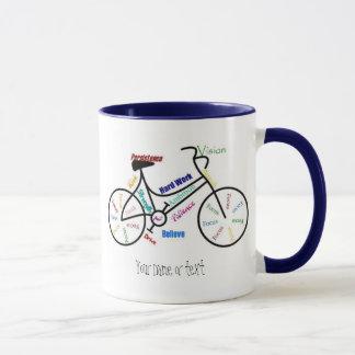 Mug Vélo de motivation, bicyclette, faisant un cycle,