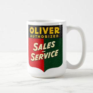 Mug Ventes vintages de tracteurs d'Oliver et signe de