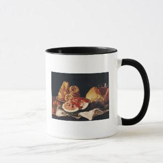 Mug Verre de vin, de pastèque et de pain