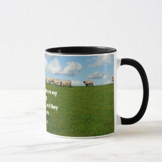 Mug Vers de bible, 10h27 de John, mon mouton…