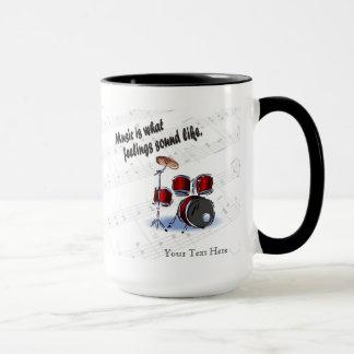 Mug Version de tambour à de quels sentiments