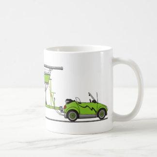 Mug Vert de bateau à voile de voiture d'Eco