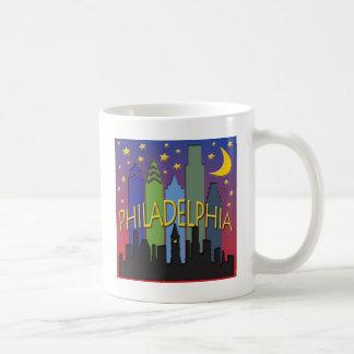 Mug Vie nocturne d'horizon de Philadelphie