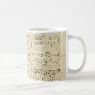 Mug Vieilles notes de musique - feuille de musique