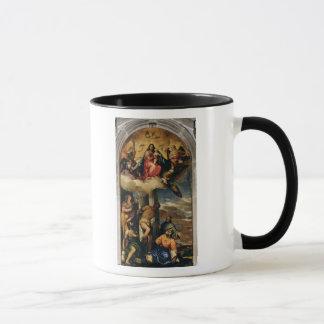 Mug Vierge et enfant avec des musiciens et des saints
