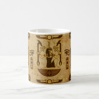 Mug Vieux papier de papyrus d'ornement égyptien