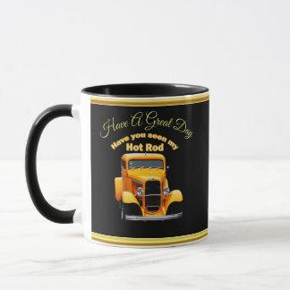 Mug Vieux roadster jaune avec la conception de foill