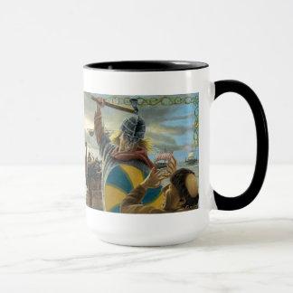 Mug Vikings attaquant le prieuré de Lindisfarne