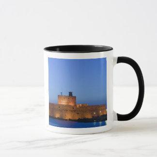 Mug Ville de la GRÈCE, îles de Dodecanese, RHODES,