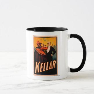 Mug Vin potable de magicien de Kellar avec le diable