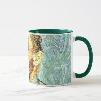 Mug Vincent van Gogh - beaux-arts verts d'autoportrait