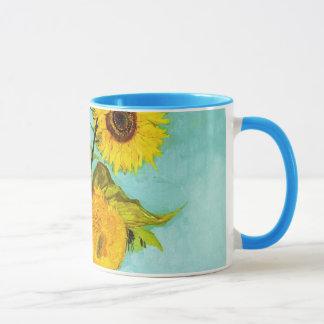 Mug Vincent van Gogh trois tournesols dans un vase