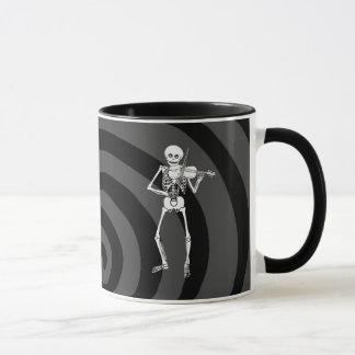 Mug Violon jouant le squelette