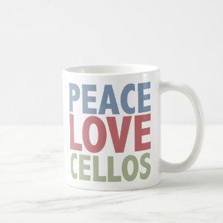 Mug Violoncelles d'amour de paix