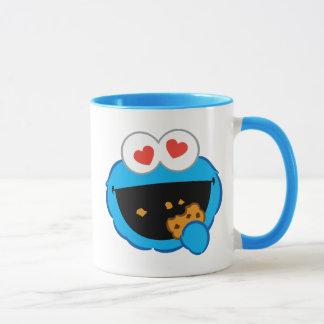 Mug Visage de sourire de biscuit avec les yeux en