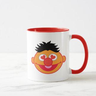 Mug Visage de sourire d'Ernie avec les yeux en forme