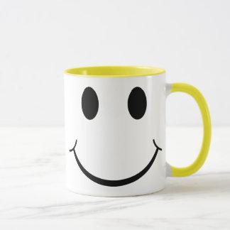 Mug Visage heureux souriant jaune des années 70
