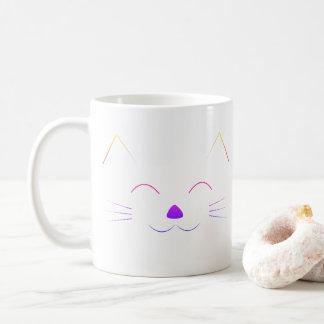 Mug Visage mignon de chat - multicolore
