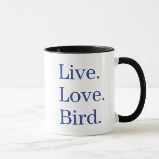 Mug Vivant. Amour. Oiseau