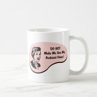 Mug Voix d'archiviste de poids du commerce