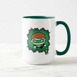 Mug Vol vert de lanterne de Chibi par l'espace