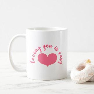 Mug Vous aimer sont Saint-Valentin romantique facile