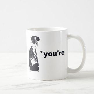 Mug Vous êtes votre police de grammaire