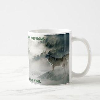 """Mug """"Vous scène d'hiver ne choisissez pas loup"""""""