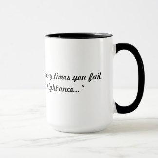 Mug Vous seulement devez avoir raison une fois