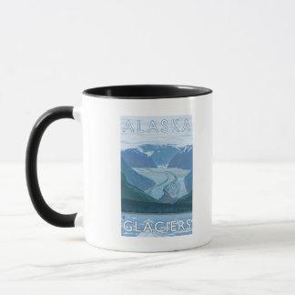 Mug Voyage vintage de scène de glacier d'AlaskaLarge