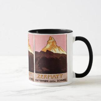 Mug Voyage vintage, montagne de Matterhorn, Suisse