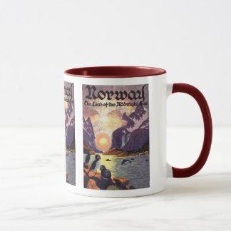 Mug Voyage vintage, terre de fjord de la Norvège de