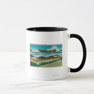 Mug Vue à la roche de joint entre Waldport et Newport