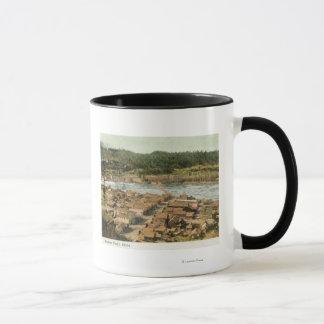 Mug Vue aérienne de la ville et de la rivière