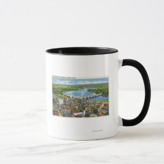 Mug Vue aérienne de la ville et du Connecticut