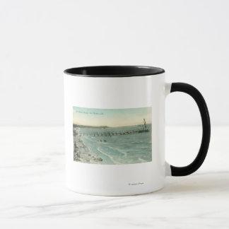 Mug Vue aérienne de plage et de pilier de San Mateo